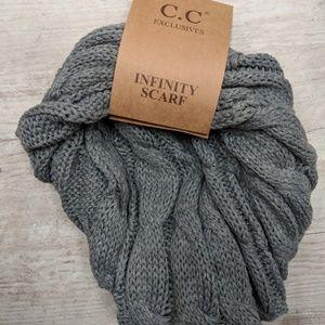 Light Grey CC Beanie Infinity Scarf